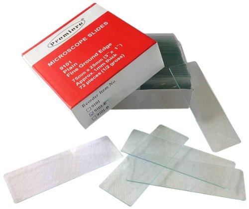 Premiere Microscope Slides – Premium Plain Ground Edge, Precleaned, 10 gross per case, 1,440 Slides