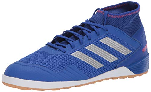adidas Men's Predator 19.3 Indoor, Bold Blue/Silver Metallic/Active red, 10 M US