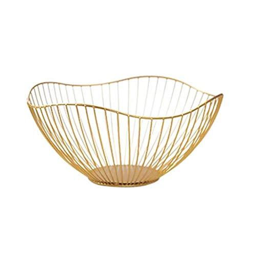 SKREOJF Nordic Style Fruit Vegetable Metal Storage Basket Decorated Display Bowl Rack Dining Table Decoration (Color : A)