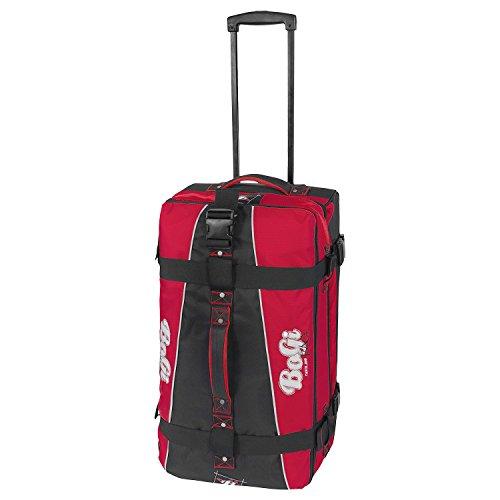 BoGi Bag Reisetasche Rollkoffer Reisekoffer Koffer, 72 cm, 85 L, Rot/Schwarz