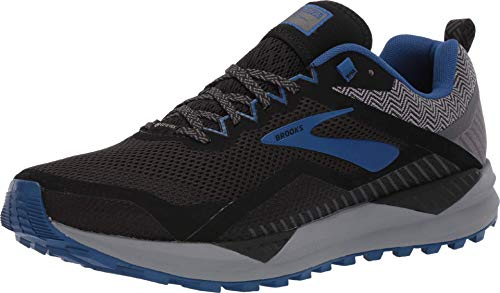 Brooks Cascadia 14 GTX, Scarpe da Corsa Uomo, Nero (Black/Grey/Blue 053), 44.5 EU