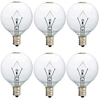25 Watt Wax Warmer Bulbs, Scentsy Bulb for Full Size Scentsy Warmer, 6 Pack E12 Base Wax..