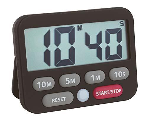 TFA Dostmann - Temporizador Digital y cronómetro (plástico, 9 x 2 x 9 cm), plástico, Negro , 9  x  2  x  7 cm