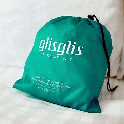 GlisGlis Green Pyramide - Moskitonetz zum Reisen, inkl. Gummizug im Boden & Eingang mit Reißverschluss | Mückennetz, Fliegennetz, Mückenschutz