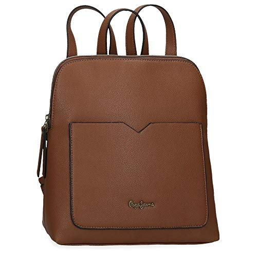Pepe Jeans India, Mochila Casual Mujeres, Marrón, 21x29x10 cms