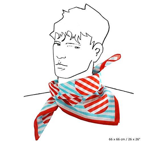 GESTREIFTER PUNKT TUCH Baumwolle + Seide Russischer Konstruktivismus