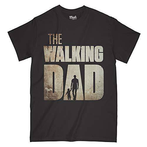 T-Shirt - The Walking Dad - Festa del papà - Happy Father's Day - Divertente, M-Uomo, Nero