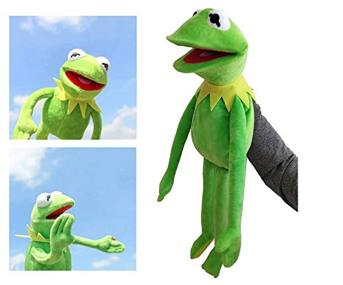 Muñeco De Peluche De Juguete De Rana-Komi, Marioneta De Rana, Muñeco De Espectáculo De Marionetas De Mano, Juguete para Niños, Regalo De Cumpleaños, 60Cm / Verde