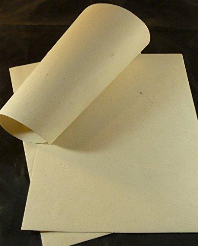 paperfreak: Hanfpapier handgeschöpft A5 Set mit 20 Bogen Schreibpapier Briefpapier Druckerpapier - hemp paper