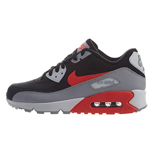 Nike Herren AIR MAX 90 Essential Gymnastikschuhe, Grau (Wolf Grey/Bright Crimson/Black 012), 43 EU