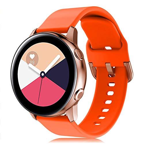 Onedream Correa Compatible con Samsung Galaxy Watch Active/Active 2 44mm 40mm Pulsera Silicona Mujer Hombre, Repuesto Compatible con Samsung Galaxy Watch 42mm/ Galaxy Watch 3 41mm Naranja