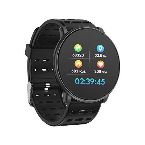 Javpoo Día del Padre Q88 Reloj Inteligente con Monitor de Ritmo cardíaco y sueño, Pulsera Bluetooth para Deporte y Fitness, Color F