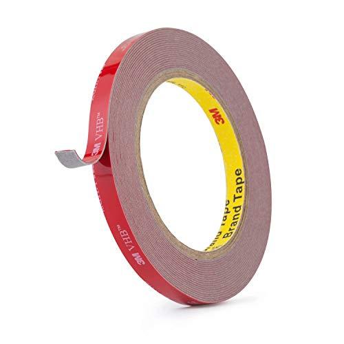 3M Double Sided Tape,VHB Heavy Duty Mounting Tape,16FT×0.4IN,Waterproof Foam Tape for Car,Home, Office Decor