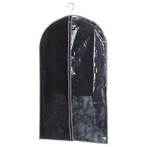 INSTANT D O - Lote de 2 fundas para ropa (60 x 100 cm), color negro y gris