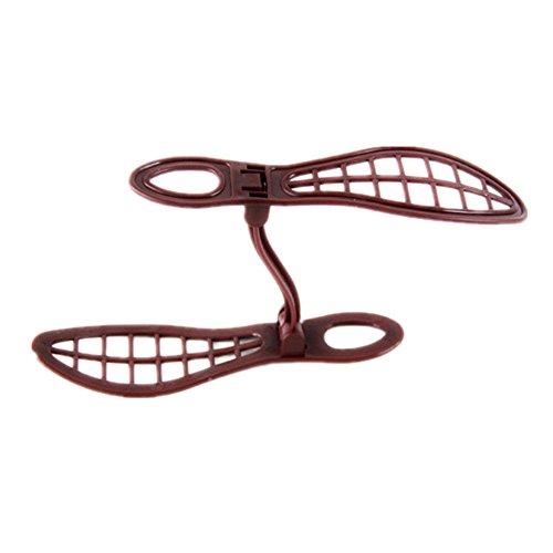 SIRIGOGO - 1 par de zapateros de plástico Doble para Ahorrar Espacio en el hogar, portátil, Almacenamiento de clóset, Zapatero, Organizador, fácil Ahorro de Espacio