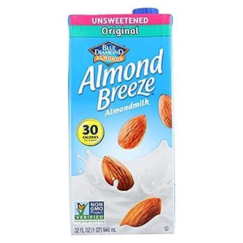 Blue Diamond Original Almond Breeze Unsweetened   12x32 OZ