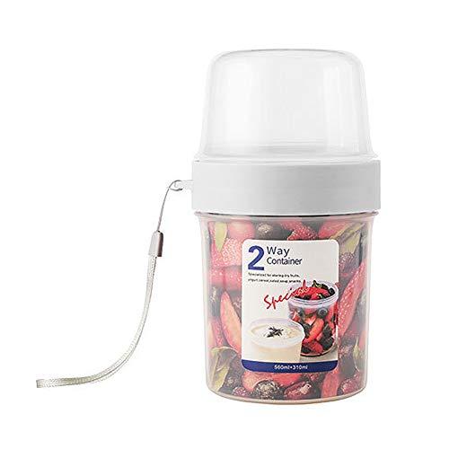 AIFUSI Mepal Lunchpot, 850ml praktischer Müslibecher, Joghurtbecher, to go Becher Geeignet für Tiefkühler, Mikrowelle und Spülmaschine