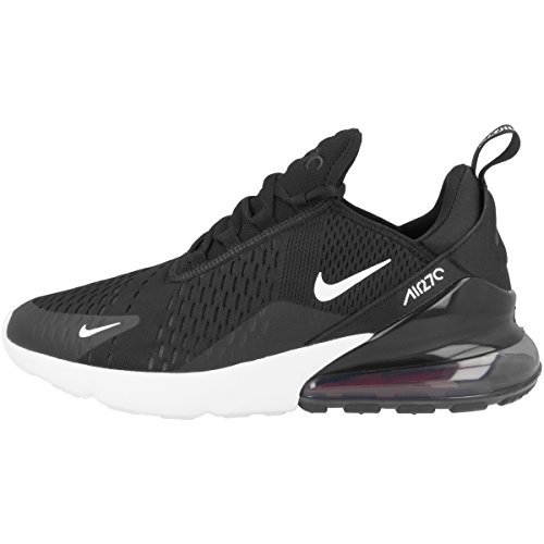 Nike Herren Air Max 270 Sneakers, Black Anthracite White Solar Red, 43 EU