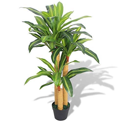 vidaXL Künstlicher Drachenbaum mit Topf 100cm Grün Kunstpflanze Dekopflanze