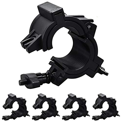 Stage Light Clamp 110LB Truss Clamp for DJ Par Lighting O Clamp Fit Pipe Diameter: 25mm 36mm 48mm, 5 Pack