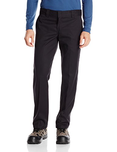 Dickies Mannen S/Stght Work Pant Broek, Zwart (Rinsed Black Rib), W34/L34