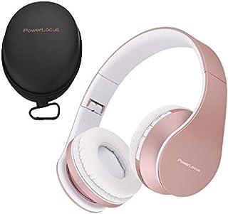 2a838ca8fff PowerLocus P1 – Auriculares Bluetooth inalambricos de Diadema Cascos  Plegables, Casco Bluetooth con Sonido Estéreo