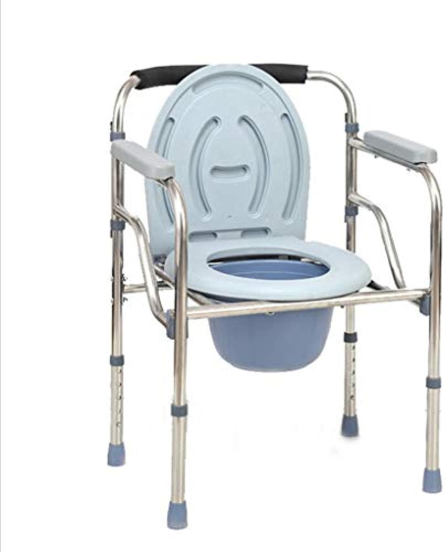 JAORUNNING Badezimmer-und Nachttischloilette, Klapptoilettensitz, 3-in-1 hhenverstellbare Toilette, Edelstahl-Toilettensitz, Mehrzweckstuhl