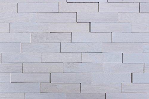 wodewa Wandverkleidung Holz 3D Optik Eiche Grau 1m² Wandpaneele Moderne Wanddekoration Holzverkleidung Holzwand Wohnzimmer Küche Schlafzimmer