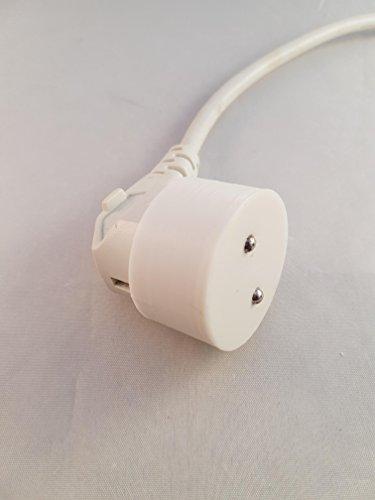 3d Cabine Euro plug secteur électrique poussière Housse : Blanc