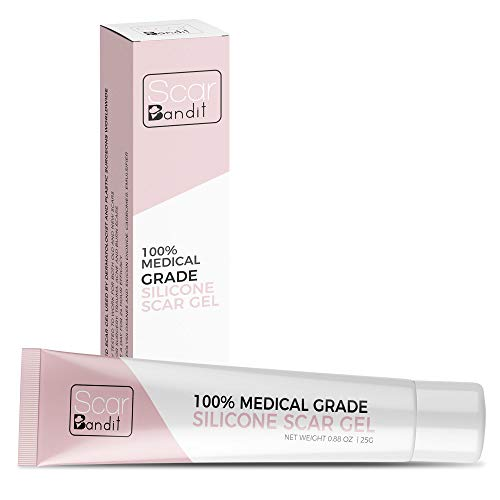 Scarbandit Medical Grade Silicone Scar Gel - Advanced Reducer for C-Section and Stretch Marks, Surgical, Acne Scars, Burn Wound - No Odor, Clear Spot Remover for the Face and Body - 25g, 0.88oz.