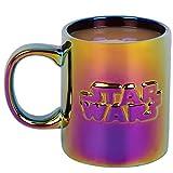 Star Wars Ceramic Coffee Mug - Iridescent Metallic Holographic Finish with Star Wars Logo - 11oz