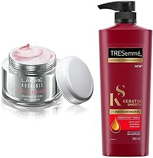 Lakmé Perfect Radiance Fairness Day Creme 50 g & TRESemme Keratin Smooth Shampoo, 580ml