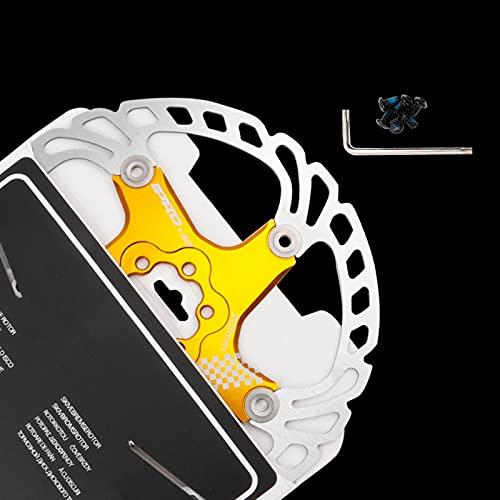 Disco de Freno de Disco de Bicicleta, 140/160/180/203mm Bicicleta de montaña Flotante Disco de Freno Centro de Bloqueo Accesorios de Bicicleta, Unisex, Estándar,Gold,203MM