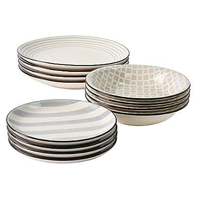ProCook Salcombe Stoneware Dinner Set 12 Piece Grey from ProCook