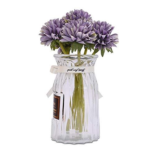 XLY 1 Bundle 6 * 20 cm plastica Giardino crisantemo Artificiale Bouquet di Fiori Decorazione della casa Festa di Nozze Simulazione Palla Fiore Decor, B08