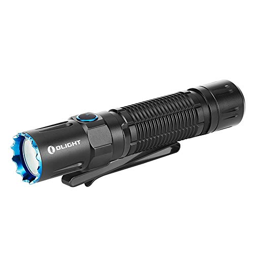 OLIGHT M2R Pro Warrior 1800 Lumens USB Magnetic Rechargeable Dual Switches Tactical Flashlight with 300 Meters Throw, Powered by 5000mAh 21700 Battery
