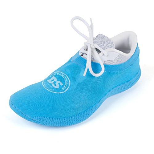 THE DANCESOCKS - 100% USA Made Over Sneaker Dance Socks, Carpet (1 Pairs/Blue)