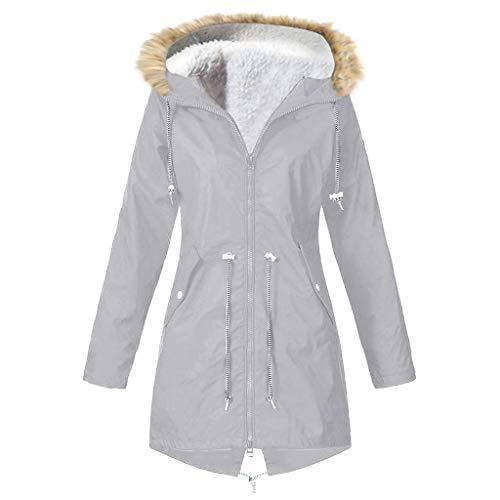 HOT1950s Damen PU Regenjacke Mit Kapuze Wasserdicht Windbreaker Wetterfest Übergangsjacke Regenmantel Windproof Outwear,Plus Size