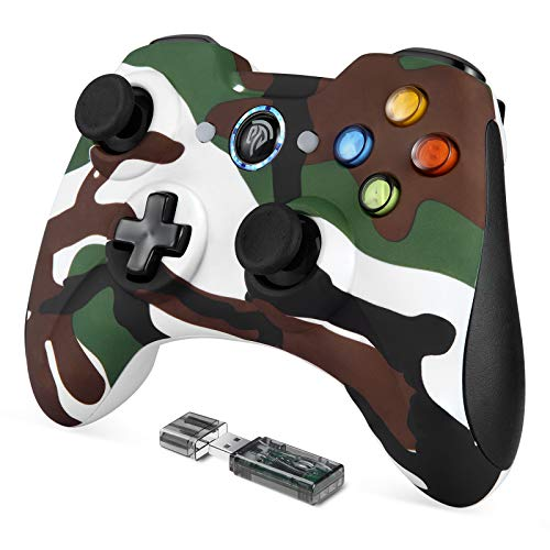 REDSTORM Mando PC, 2.4GHz Gaming Controller Gamepad Joystick con Doble Vibración, Juega con 8 Horas, para PS3 / PC/Android Phones/Tablets/TV Box
