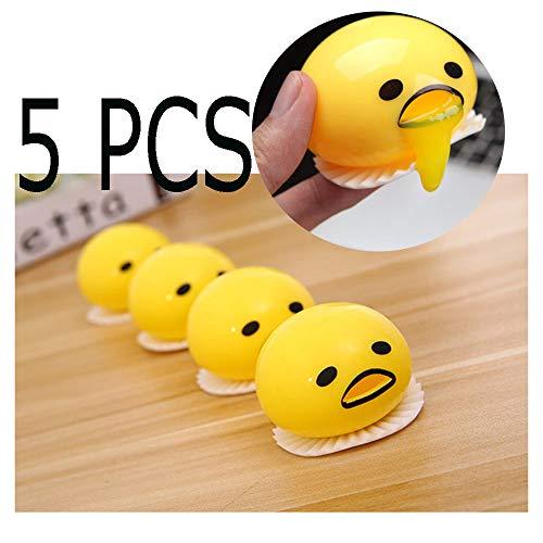 Starhig Emoji Vomit Egg Yolk - Soft & Squishy Stress Relief ,Novelty Gag Toys Spitting Yolk Egg Prank Squeeze Stress Relief Toys 5Pcs