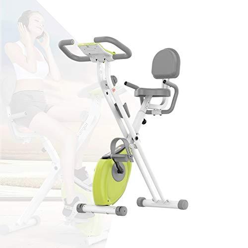 ZLMI Klappbarer Hometrainer Sport Fitnessfahrrad Ausdauer-Beintrainer, Magnetisches Steuerwiderstandsdesign, sicher und leise, faltbar, Nicht durch den Verwendungsort eingeschränkt