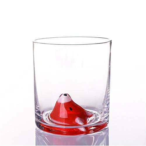 400 ml bicchieri 3D con animali, tazza di cristallo e tazza di caffè in vetro colorato per bambini adulti tazza da tè, latte, succo tazza (volpe)