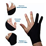 Océu Artist Glove for Drawing Tablet Artist's Drawing Glove with Two Fingers for Graphics Drawing Tablet (1 Unit of Free Size, Good for Right Hand or Left Hand)-M