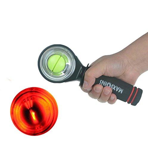 YZLSPORTS LED Wrist Ball Gyroscope Strengthener Ball Power Ball, New Wrist Powerball Gyroscope Wrist Strengthener Power Force Ball Arm