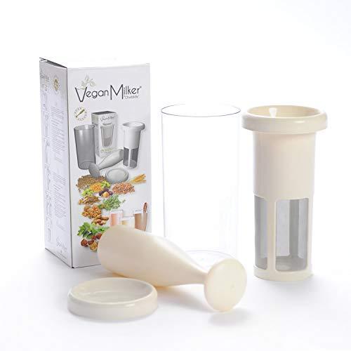 VEGAN MILKER CLASSIC, Vegan Milch Maker. Pflanzenmilch aus beliebigen Samenkörnern. Erstellt 1 Liter in 1 Minute. Hergestellt in Europa. Kostenloses Rezept-E-Book (Veganmilker-Website)