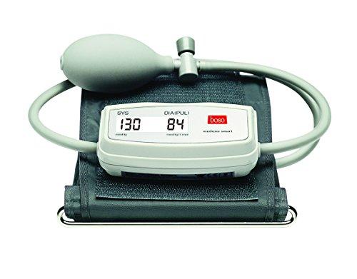 boso medicus smart – Blutdruckmessgerät zum Blutdruckmessen mit Memomatic, kleinem Display und Arrhythmie-Erkennung – Inkl. Standard-Manschette (22–32cm)
