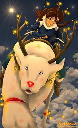 Korra and Naga Merry Christmas poster card