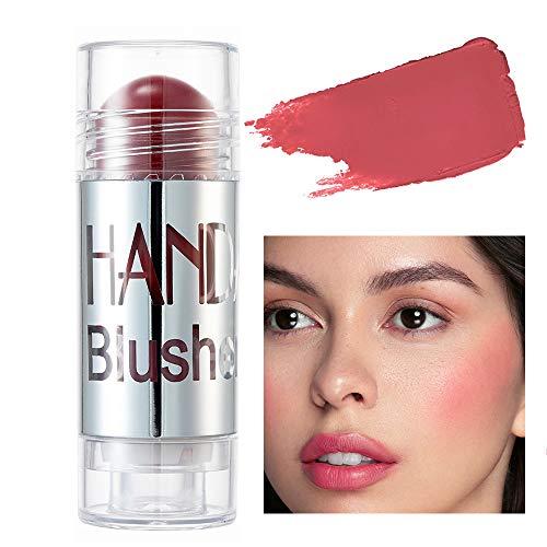 GL-Turelifes Blush Stick Blush Cream Lápiz de colorete hidratante, iluminador y recortador, colorete en barra que aumenta el brillo y el estado de ánimo El maquillaje de mejillas agrega brillo (#07)