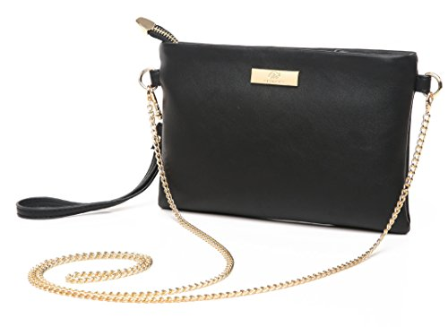 Aitbags Mini Soft PU Leather Wristlet Clutch Crossbody Bag with Chain Strap Cell Phone Purse