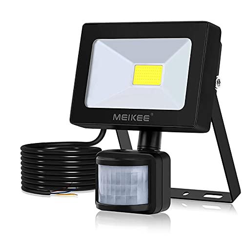 MEIKEE 10W LED Strahler mit Bewegungsmelder Superhell 1000LM LED Fluter IP66 Wasserdicht Außenstrahler 6500K Tageslichtweiß Scheinwerfer Außenbeleuchtung für Hof, Garage, Garten